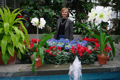 Mom and the flowers of the Botanical Gardens - Washington, DC ... February 24, 2007 ... Photo by Rob Page III