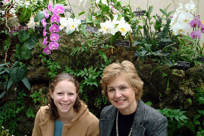 Emily and Mom enjoying the Botanical Gardens - Washington, DC ... February 24, 2007 ... Photo by Rob Page III