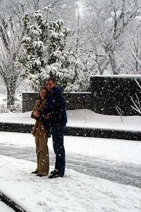 Rob and Emily enjoying the snow - Washington, DC ... February 24, 2007 ... Photo by Joyce Page