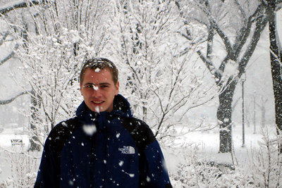 Enjoying the heavy snow - Washington, DC ... February 24, 2007 ... Photo by Joyce Page