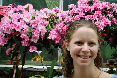 Emily enjoying the Botanical Garden - Washington, DC ... February 24, 2007 ... Photo by Rob Page III