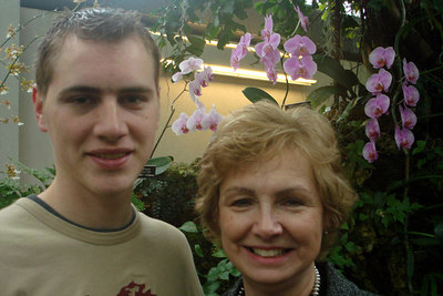 Rob and Mom inside the Botanical Gardens - Washington, DC ... February 24, 2007 ... Photo by Rob Page III