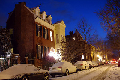 The streets of Georgetown under a light blanket of snow - Washington, DC ... February 18, 2007 ... Photo by Rob Page III