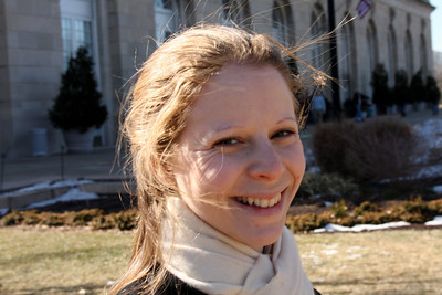 Emily outside the Botanical gardens - Washington, DC ... February 1, 2009 ... Photo by Rob page III