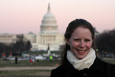 Emily and the National Capitol - December 13, 2008 ... Photo by Rob Page III