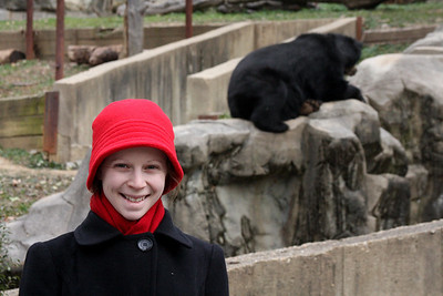 Emily and a bear at the National Zoo - Washington, DC ... January 18, 2009 ... Photo by Rob Page III