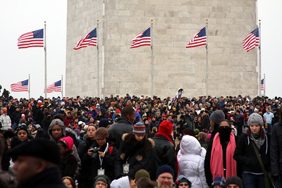 The crowd below the Washington Monument for the Concert at the Lincoln Memorial - Washington, DC ... January 18, 2009 ... Photo by Rob Page III