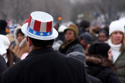 A patriotic hat - Washington, DC ... January 18, 2009 ... Photo by Rob Page III