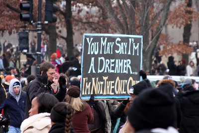 """You may say I'm a dreamer...I'm not the only one"" - Washington, DC ... January 18, 2009 ... Photo by Rob Page III"