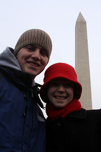 Rob and Emily on the National Mall at the Concert at the Lincoln Memorial - Washington, DC ... January 18, 2009 ... Photo by Greg Dost