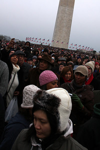 The crowds gathered on the National Mall for the Concert at the Lincoln Memorial - Washington, DC ... January 18, 2009 ... Photo by Rob Page III