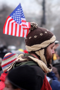 Patriotism was on display this day - Washington, DC ... January 18, 2009 ... Photo by Rob Page III