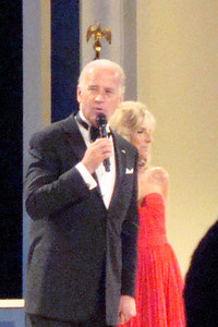Joe Biden speaks to the crowd - Washington, DC ... January 20, 2009 ... Photo by Rob Page III