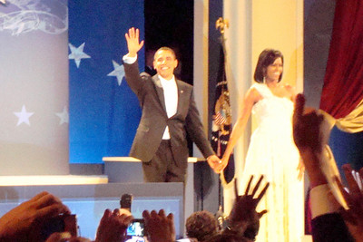 President Obama waves to the crowd - Washington, DC ... January 20, 2009 ... Photo by Rob Page III