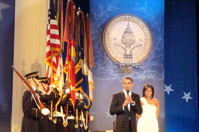 President Obama speaks to the crowd - Washington, DC ... January 20, 2009 ... Photo by Rob Page III