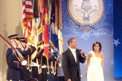 President Obama speaks to the crowd at the Midwest Inaugural Ball - Washington, DC ... January 20, 2009 ... Photo by Rob Page III
