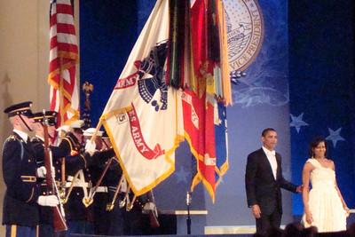 The President and the first lady make their way to the front - Washington, DC ... January 20, 2009 ... Photo by Rob Page III