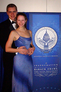 Rob and Emily at the Midwest Inaugural Ball - Washington, DC ... January 20, 2009 ... Photo by Mel Ciolek