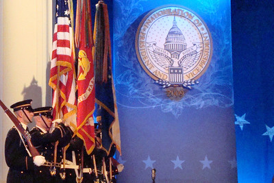The color guard is in place for President Obama - Washington, DC ... January 20, 2009 ... Photo by Rob Page III