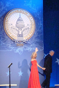Jill Biden waves goodbye to the crowd at the Midwest Inaugural Ball - Washington, DC ... January 20, 2009 ... Photo by Rob Page III