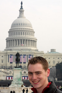 Rob in front of the Capitol the day before the Inauguration - Washington, DC ... January 19, 2009 ... Photo by Emily Page