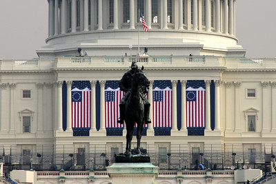 The Capitol is ready for the Inauguration - Washington, DC ... January 19, 2009 ... Photo by Rob Page III