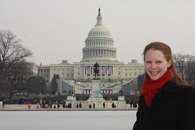 Emily in front of the Capitol the day before the Inauguration - Washington, DC ... January 19, 2009 ... Photo by Rob Page III