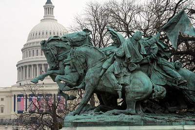 The Grant Memorial dedicated to the Civil War General Ulysses S. Grant - Washington, DC ... January 19, 2009 ... Photo by Rob Page III