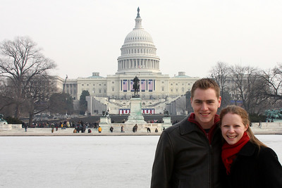 Rob and Emily in front of the Capitol the day before the Inauguration - Washington, DC ... January 19, 2009