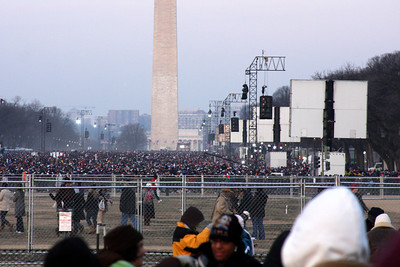 The National Mall at 7:45 on Obama's Inauguration day - Washington, DC ... January 20, 2009 ... Photo by Rob Page III
