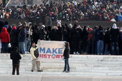 Obama is definitely making history - Washington, DC ... January 20, 2009 ... Photo by Rob Page III
