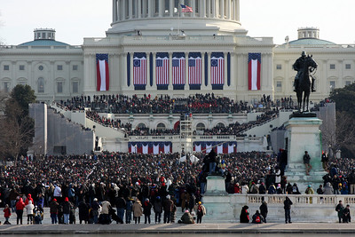 Less than an hour to go - Washington, DC ... January 20, 2009 ... Photo by Rob Page III