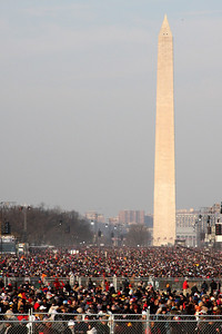 The National Mall at about 9:00 on Obama's Inauguration Day - Washington, DC ... January 20, 2009 ... Photo by Denver Post photographer