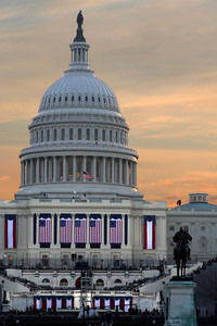 The Capitol at sunrise on Inauguration day - Washington, DC ... January 20, 2009 ... Photo by Rob Page III