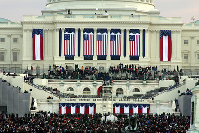 Only a couple if hours until Obama's swearing in - Washington, DC ... January 20, 2009 ... Photo by Rob Page III
