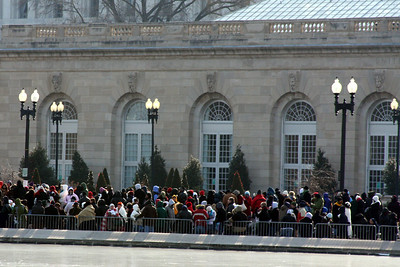 The crowd around the Capitol Reflecting Pool for Obama's Inauguration - Washington, DC ... January 20, 2009 ... Photo by Rob Page III