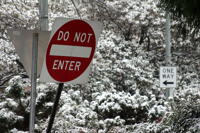 One way, but Do Not Enter - Washington, DC ... January 27, 2009 ... Photo by Rob Page III