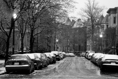 An icy DC street - Washington, DC ... January 28, 2009 ... Photo by Rob Page III