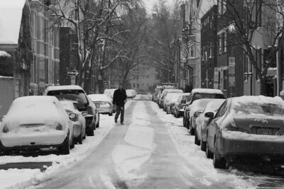 An unplowed side street - Washington, DC ... March 2, 2009 ... Photo by Rob Page III