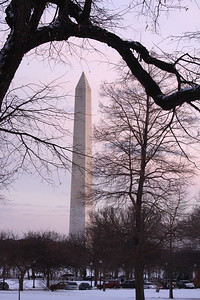 The Washington Monument at sunset - Washington, DC ... March 2, 2009 ... Photo by Rob Page III