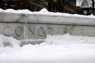 Congress wasn't snowed in this day.  DC actually went to work - Washington, DC ... March 2, 2009 ... Photo by Rob Page III
