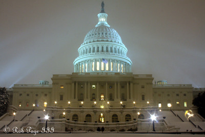 The United States Capitol in the DC snowstorm of 2009 - Washington, DC ... December 19, 2009 ... Photo by Rob Page III