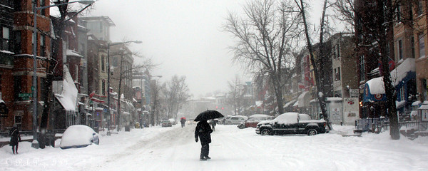 Adams Morgan in the snow - Washington, DC ... December 19, 2009 ... Photo by Rob Page III
