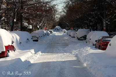T St. after the storm - Washington, DC ... December 20, 2009 ... Photo by Rob Page III