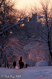 The sunsets over the National Cathedral - Washington, DC ... February 6, 2010 ... Photo by Rob Page III