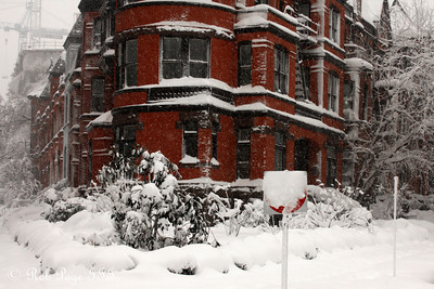 A house is battered with snow - Washington, DC ... February 6, 2010 ... Photo by Rob Page III
