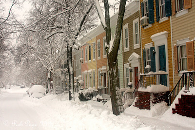 The snowy streets of Georgetown - Washington, DC ... February 6, 2010 ... Photo by Rob Page III