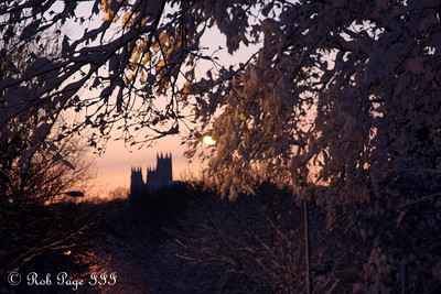 The National Cathedral at sunset - Washington, DC ... February 6, 2010 ... Photo by Emily Page