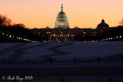 The Capitol at sunrise - Washington, DC ... February 7, 2010 ... Photo by Rob Page III