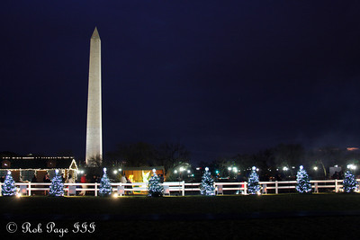 The Washington Monument from the National Christmas Tree - Washington, DC ... January 1, 2012 ... Photo by Rob Page III